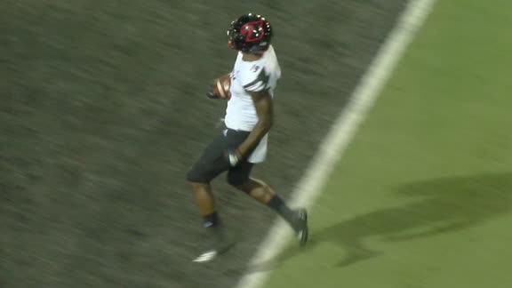 Louisville's Hall returns kickoff 100 yards for a TD