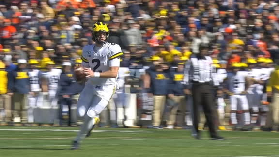Patterson's big pass play sets up Michigan TD