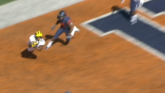 Peoples-Jones makes diving catch for Michigan TD