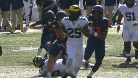 Haskins breaks free for 29-yard Michigan TD