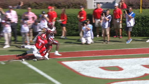 Hilinski drops a dime to Edwards for Gamecocks TD