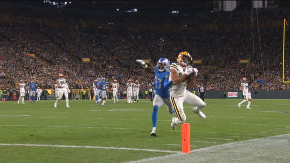 Lazard reels in unbelievable catch for Packers' TD