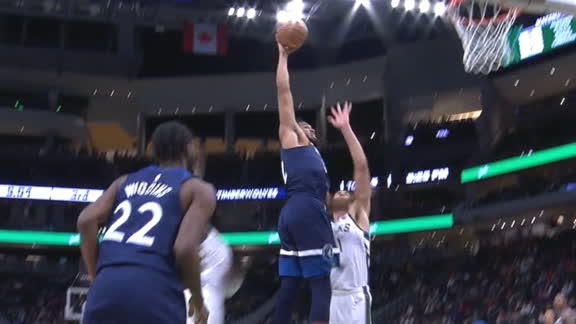 Towns throws down monster jam in the lane