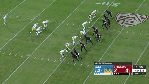 Stanford blocks UCLA's punt for touchdown