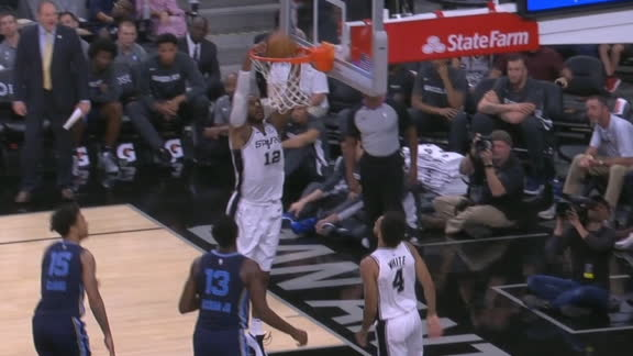 Aldridge and White combine on the drive-and-dish