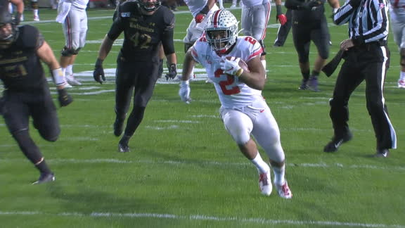 Fields connects with Dobbins for his second score