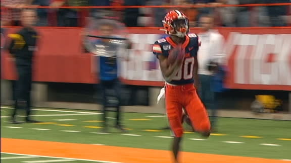Cuse's Harris speeds away for 94-yard TD