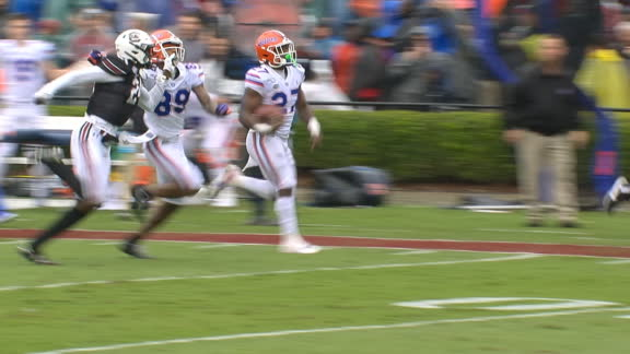 Florida needs 1 play to respond with Pierce's 75-yard TD