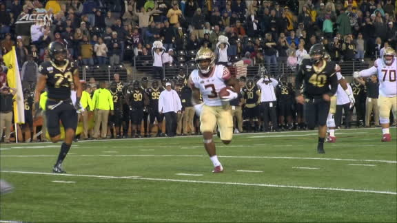 Akers dives into the end zone for his 2nd FSU TD