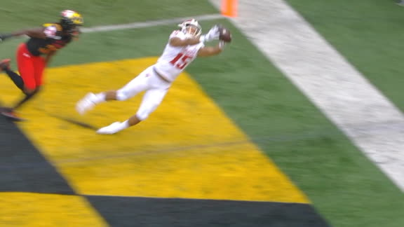 Westbrook lays out for the terrific Indiana TD