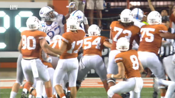 Texas beats Kansas with field goal as time expires