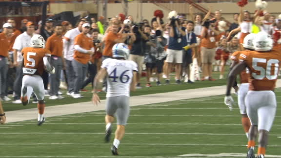 Jamison runs it back for a Texas defensive PAT