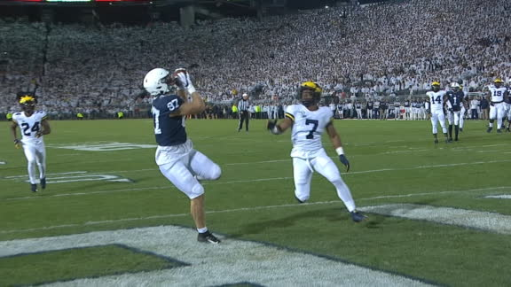 Freiermuth's 17-yard TD catch puts Penn State on the board