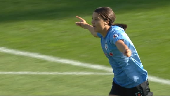 Kerr opens the scoring for the Red Stars