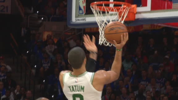 Tatum throws up unreal and-1