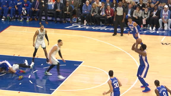Embiid drains 3 from top of the key