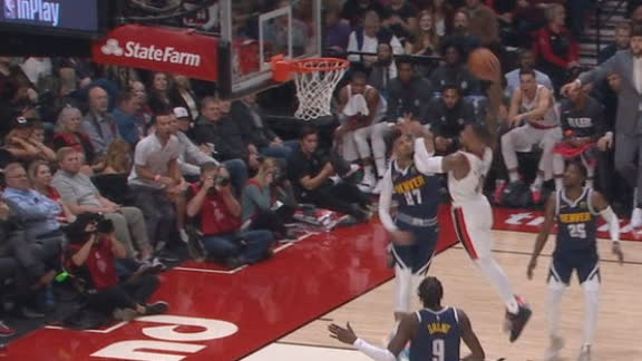 Lillard throws down tomahawk dunk