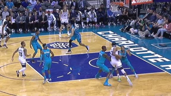 Towns muscles through double-team