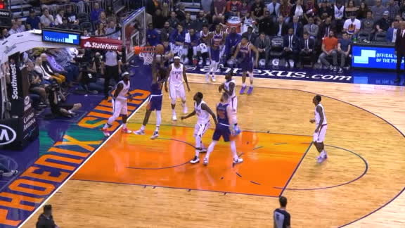 Booker dishes to Oubre Jr. for the jam