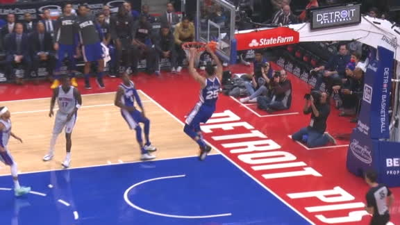 Richardson finds Simmons for the alley-oop
