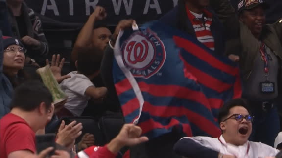 Wizards fans celebrate Nats taking lead in World Series