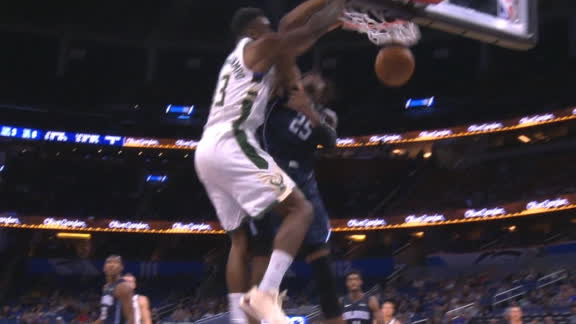 Giannis' little brother with the poster