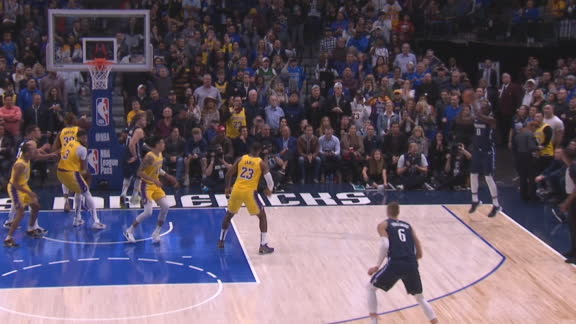 Luka's 15th assist sets up go-ahead 3