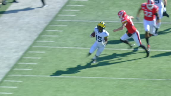 Michigan takes opening kickoff 97 yards to the house