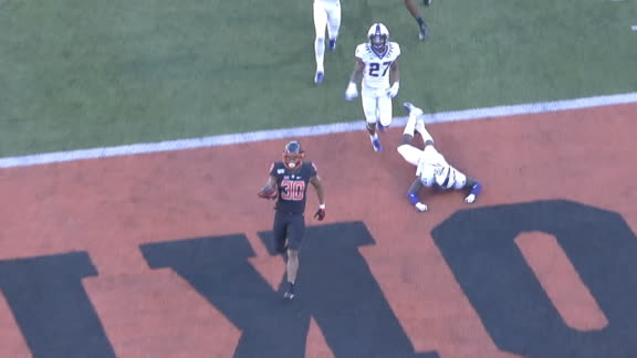 Hubbard rips off 92-yard TD run for Oklahoma State