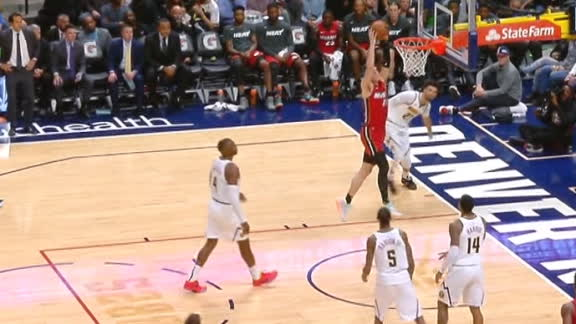 Herro throws down first NBA dunk