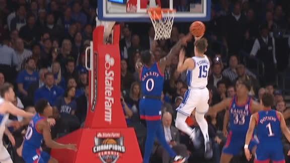 O'Connell splits defense for Duke bucket