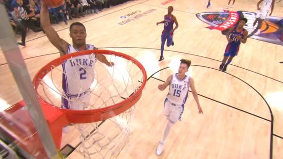 Stanley flushes fast-break dunk