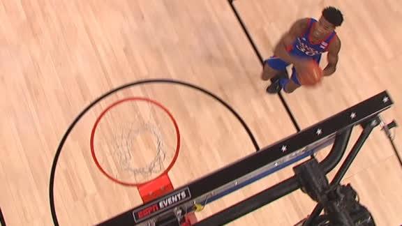 Agbaji cuts backdoor for dunk