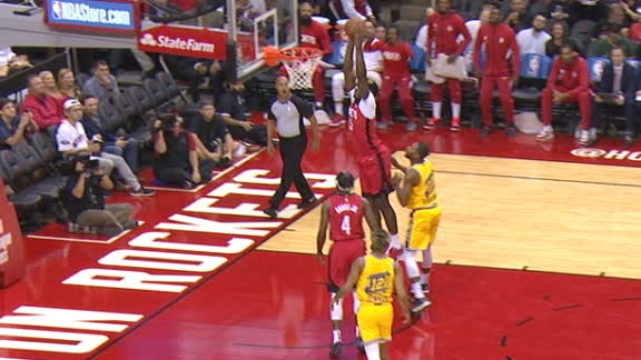 Capela elevates for two-hand jam