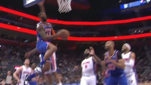 Marcus Morris goes baseline for nifty reverse layup