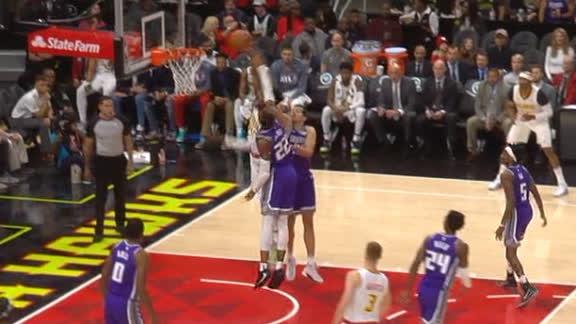 Fernando throws down powerful dunk in the lane