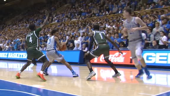 Jones drops a dime to Hurt for Duke dunk
