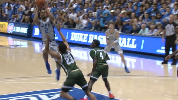 Duke's Stanley contorts for and-1 bucket