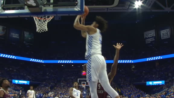 Quickley lobs to Richards for slam