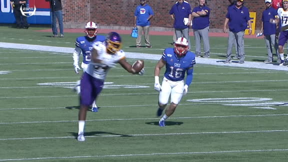Byrd bobbles ball, but holds on for 45-yard ECU TD