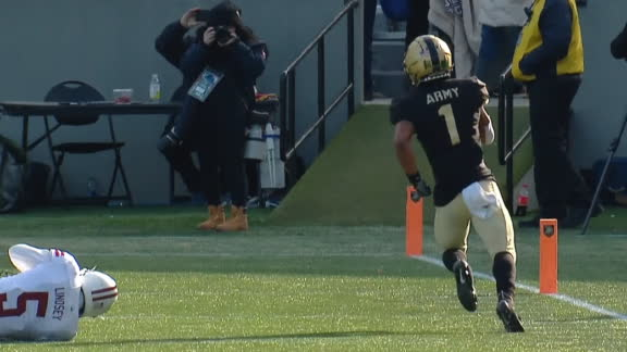 Army QB rips off 83-yard score