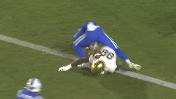 Duke's Carter comes up with unlikely INT off a player's helmet