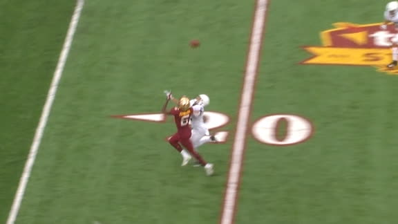 Morgan threads the needle for the Minnesota TD