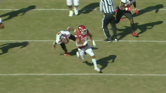 Boyd runs 86 yards for Arkansas TD