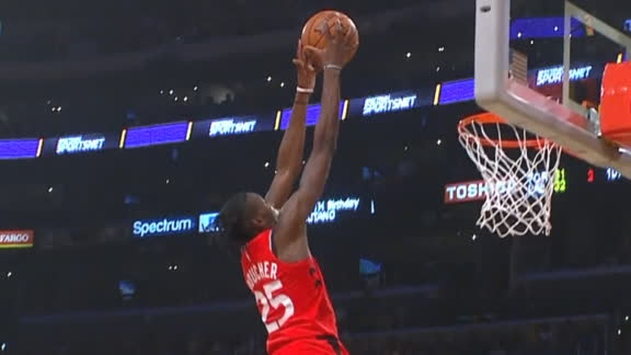 Boucher gets the block and slam at the other end