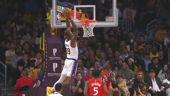 Bradley sets up Dwight for emphatic slam
