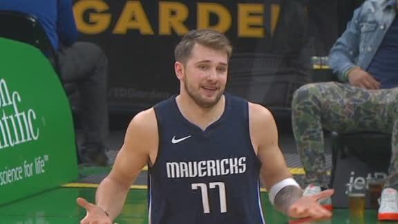 Luka mimics Jordan shrug after 3