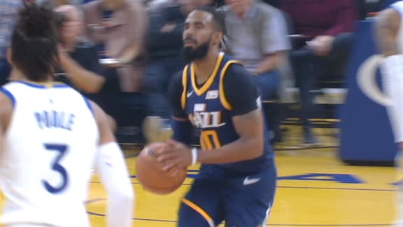 Conley drains half-court shot