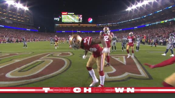 San Francisco aumenta su ventaja con touchdown de Kendrick Bourne