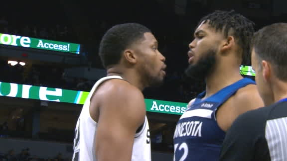 Towns and Gay have heated exchange